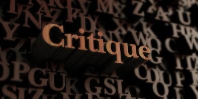 Critique - Wooden 3d rendered letters/message